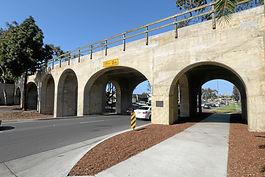 Pacific Electric Railroad Bridge at day.