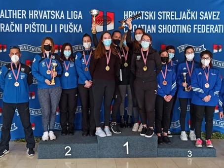 Pojedinačno prvenstvo Hrvatske seniori/ke i 5. kolo 1. Walther Hrvatske lige zračno oružje