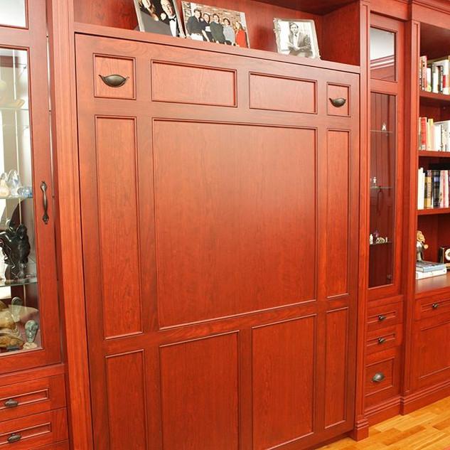 Custom office with hidden Murphy bed!  L