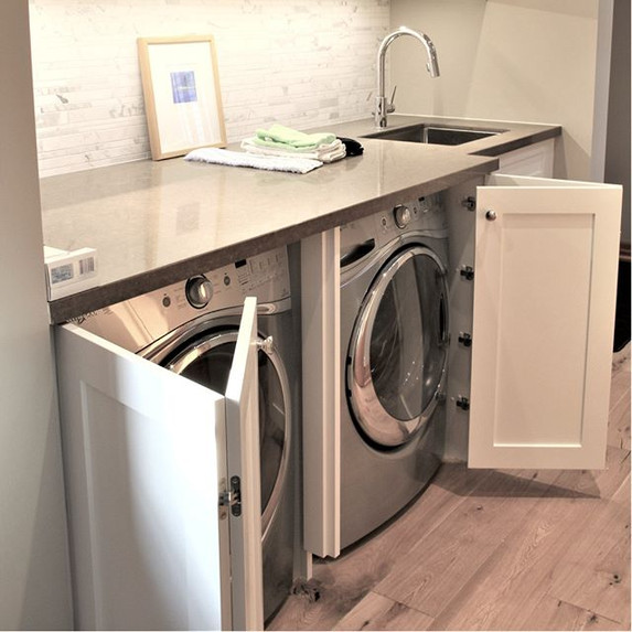 Don't want to look at the washer and dry