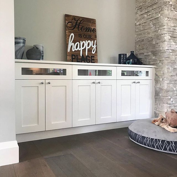 I absolutely love this cabinetry we did