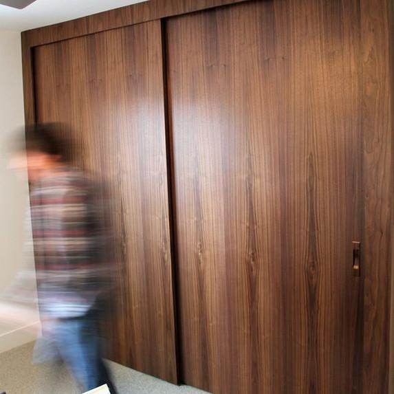 Custom walnut closet doors!  Amazing!  T