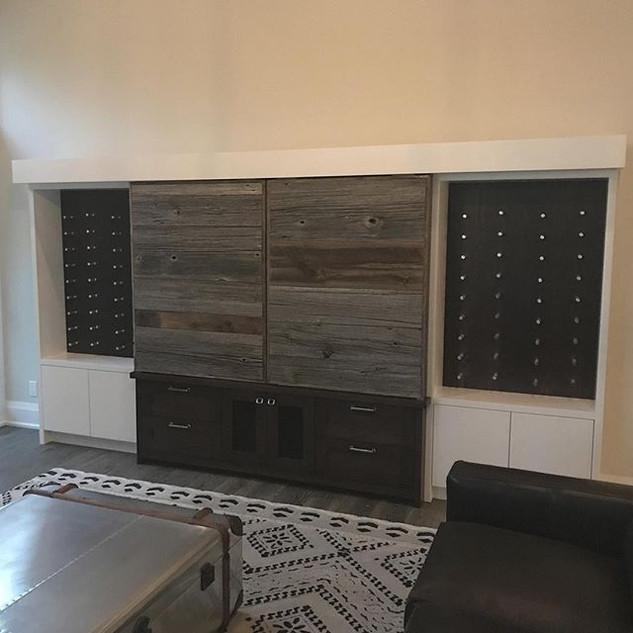 This TV unit has it all!  Hidden TV behi