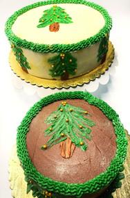 Holiday Evergreen Tree Cake