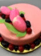 Pink Tulip Cake   Artful Sweets LLC