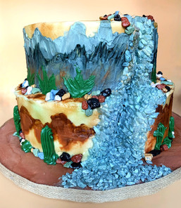 Mountain Waterfall Cake