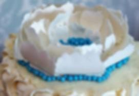 White Flower Topper   Artful Sweets LLC