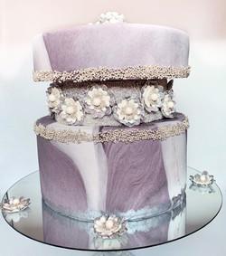 Jeweled Marble Faultline Cake