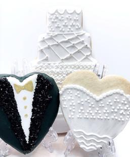 Bride Groom Wedding Cake Cookies