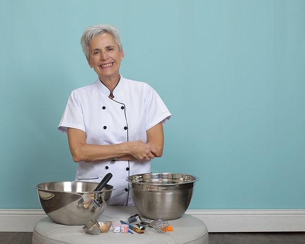 Chef Susan Kolman with Tools | Artful Sweets LLC