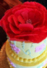 Red Flower Cake | Artful Sweets LLC