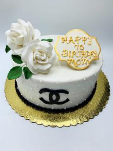 Chanel logo cake