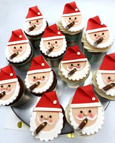 Smoking Santa Cupcakes