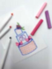 Cake Sketch   Artful Sweets LLC