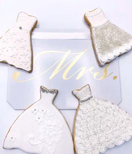 Bridal Dress Cookies