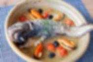 ヒカリ食堂釜石ドンコのアクアパッツァ
