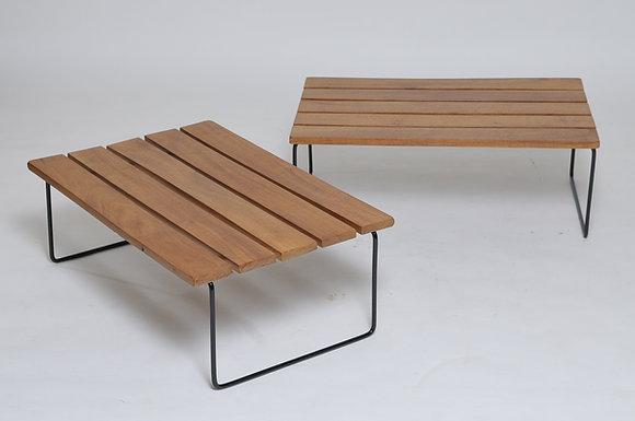 Midcentury Bench im Bertoia Stil