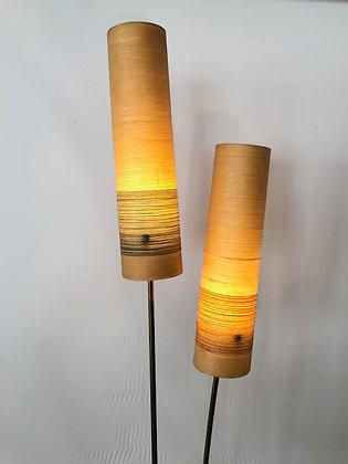 60's Stehlampe Fiberglasschirme