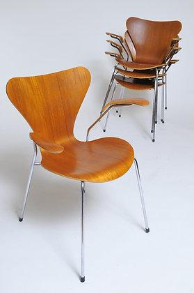 Arne Jacobsen Teak Stühle 4er Set