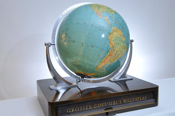 Leucht Globus mit Atlas