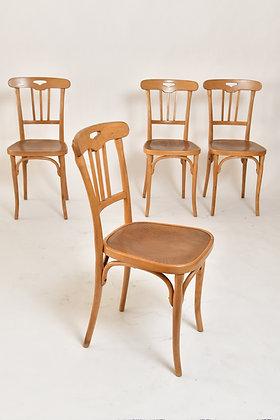Kohn Bugholzstühle Set