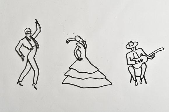 50s Flamenco Drahtfiguren