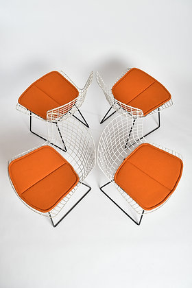 Harry Bertoia Wire Chairs 4er Set