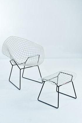 Bertoia Diamond Chair & Ottomane