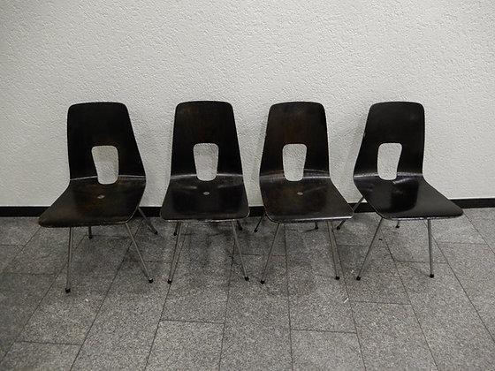 Hans Bellmann Einpunktstühle 4er Set