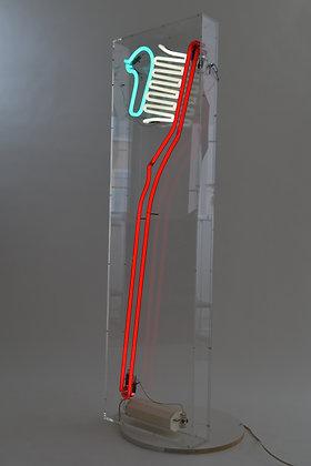 Giant Neon Toothbrush
