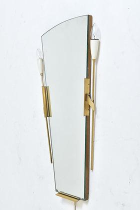 50s Wand Spiegellampe