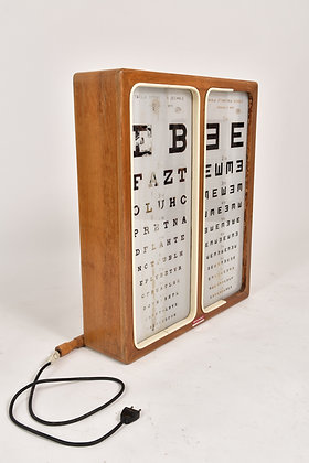 Optiker Sehtest Leuchtkasten