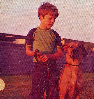 Young dog trainer Eric Baechtold