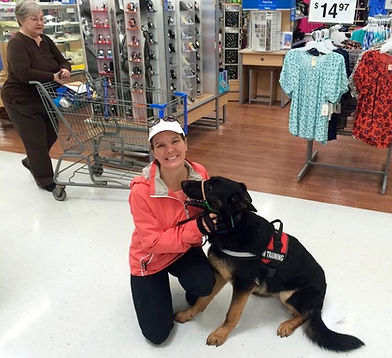 Lisa Baechtold puts a service dog to the test after private dog training in our studio
