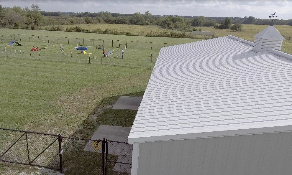 Studio and adjoining play yards
