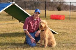Eric & Trixie on the agility course