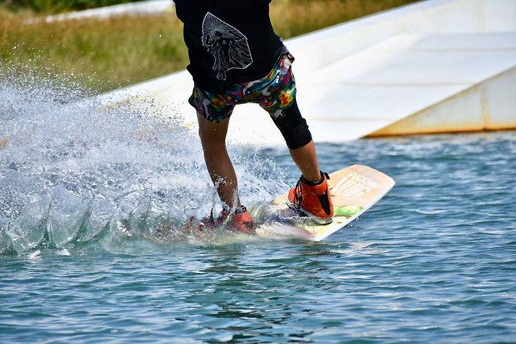 Jason wakeboarding Thailand
