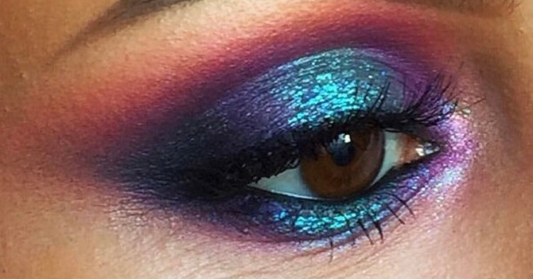 Metallic Eye Makeup