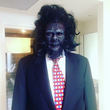 SFX Gorilla Makeup and Wig
