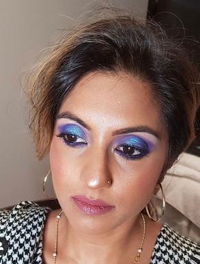 Electric Blue Eyeshadow Pop