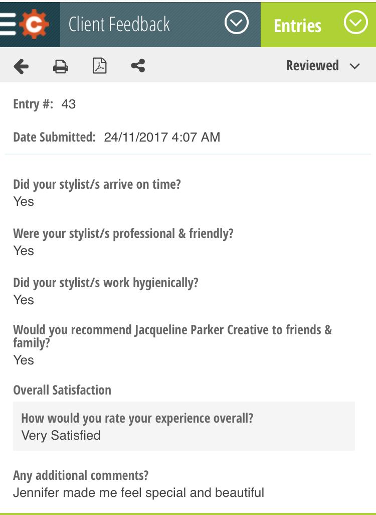 Client Feedback