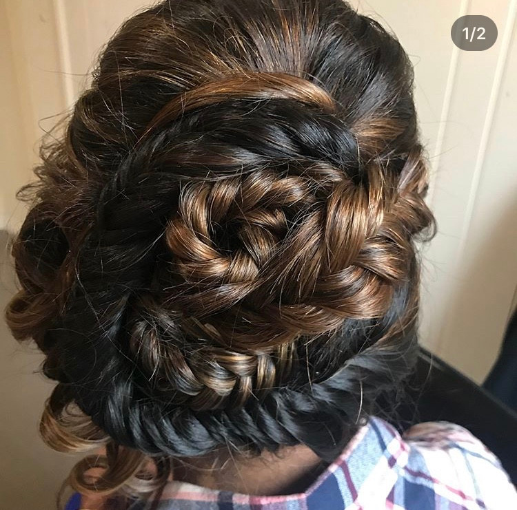 Unique Braided Up Do