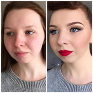 Before and After Vintage Makeup