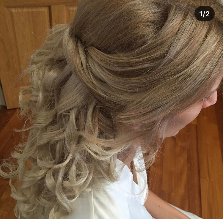 Gorgeous Half Up Curled Hairstyle