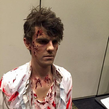 SFX Zombie Makeup for JB HiFi