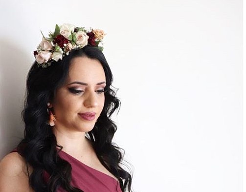 Waves with Floral Headpiece