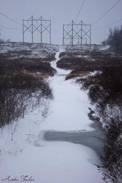 Power Line Snow Path