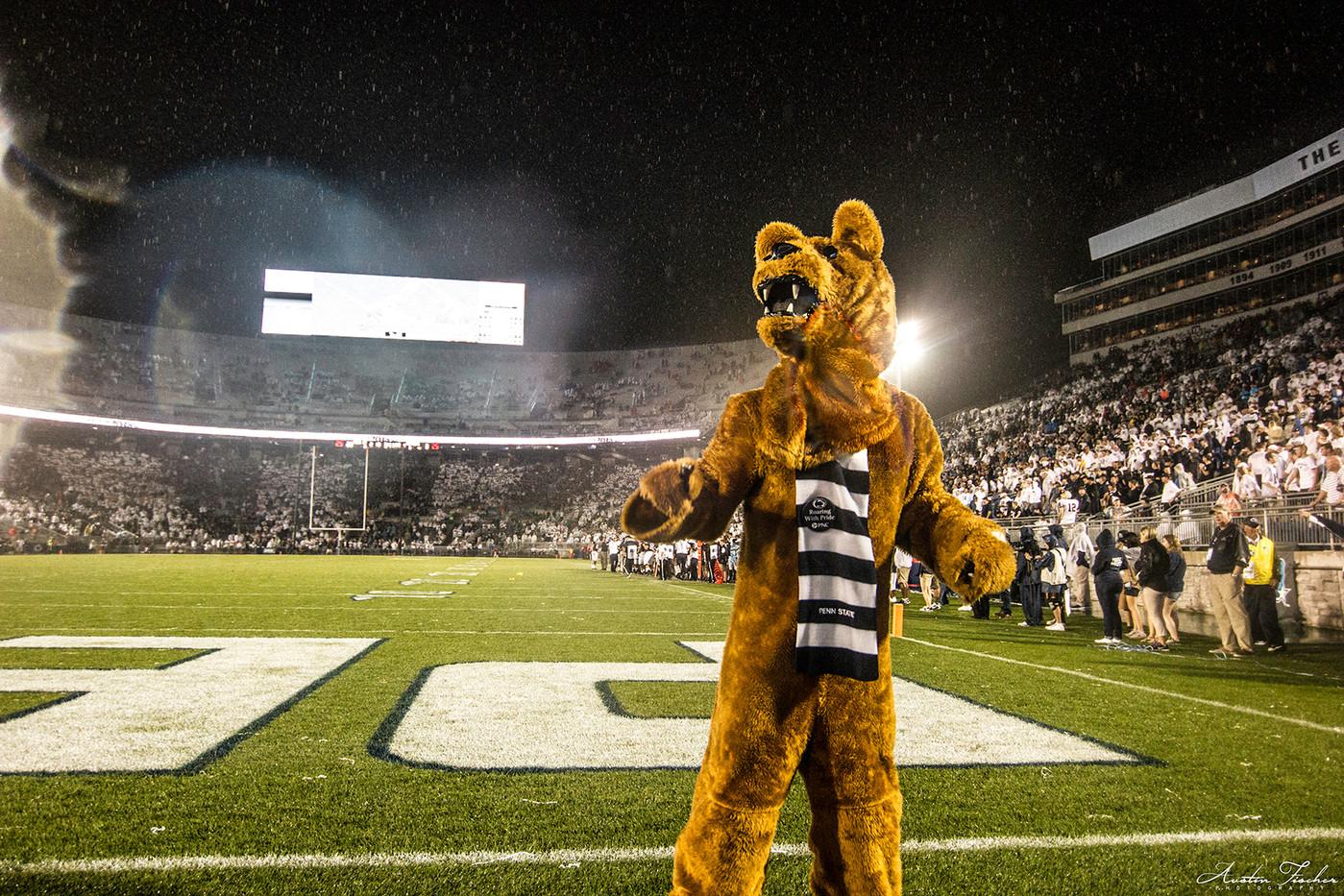 Rainy Night at Beaver Stadium