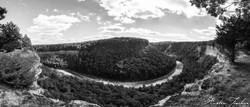 Letchworth Canyon BnW Pano