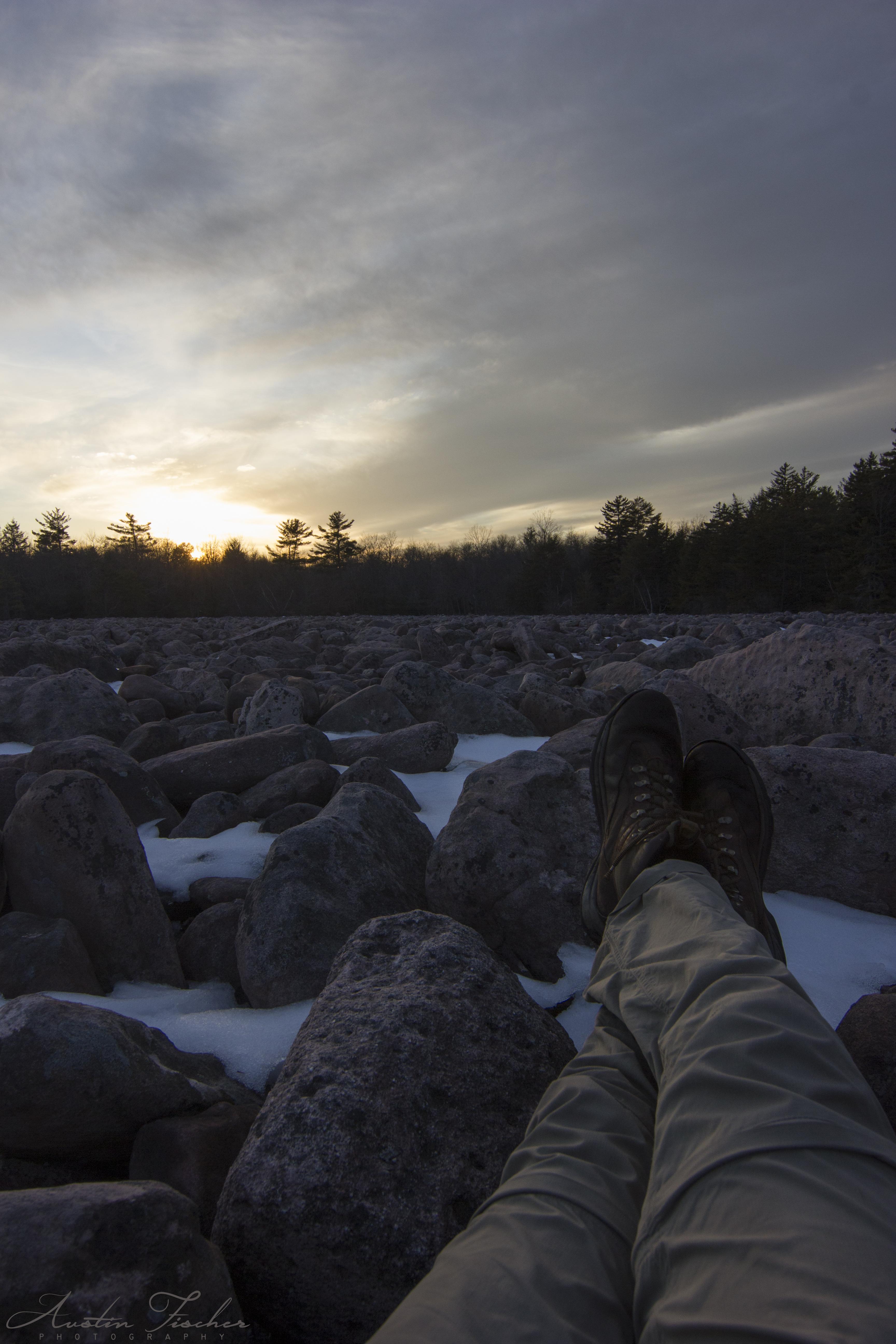 Watching Boulder Field Sunset